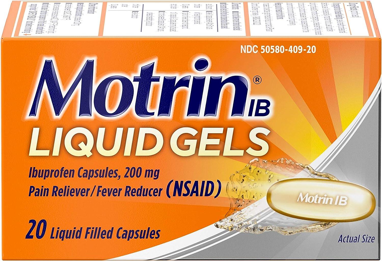 Motrin IB 200mg Ibuprofen Liquid Fever [Alternative dealer] Reducer National uniform free shipping Pain Gel Reliever