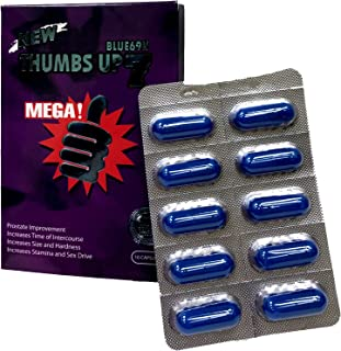 Thumbs Up 7 Blue 69K 10 Capsules Best Male Enhancing Natural Performance Capsules Most Effective Natural Amplifier for Per...