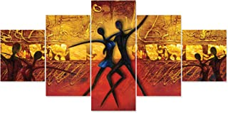 Saumic Craft Set Of 5 Modern Art Scenery 3D Framed Wall Painting For Home Decoration , Living Room , Office , Hotel With A...