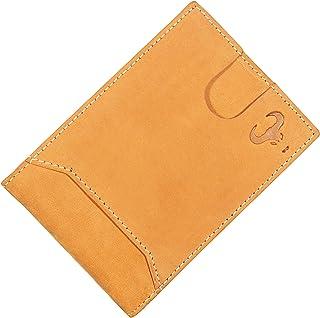 Genuine Leather Bifold Wallet for Men - Slim Minimalist Side Flip Design - Front Pocket Travel Purse - RFID Blocking