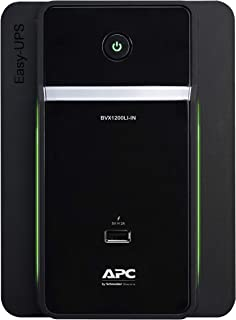 APC Easy UPS BVX1200LI-IN 1200VA / 650W, 230V, UPS System, an Ideal Power Backup & Protection for Home Office, Desktop PC...