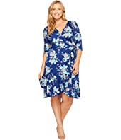 Kiyonna - Flirty Flounce Wrap Dress