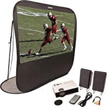 """Sima 84"""" Diagonal Instant Theater Pop-Up Projection Screen Kit with LED Projector and Remote, Speakers & Carry Bag (XL-PRO84)"""