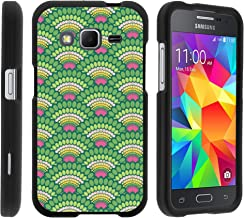 MINITURTLE Case Compatible w/ Samsung Core Prime Case, Armor Snap On Hard Case Protector Cover w/ Customized Design for Samsung Galaxy Core Prime G360 (Boost Mobile) Peacock Pattern