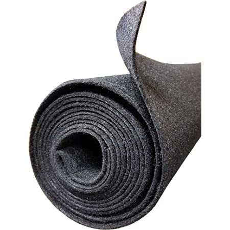 """Polymat Audio 3ft 48"""" Wide Grey Charcoal Sub Car Woofer Speaker Box, DJ Enclosure Latex Backed Carpet and Trunk Liner"""