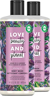 Love Beauty and Planet Relaxing Rain Body Wash Enjoy Soft, Smooth Skin with a Soothing-Relaxed Feel Argan Oil and Lavender...