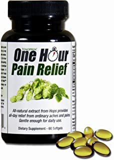 Vinoprin One Hour Pain Relief Supplement - 60 Softgels Each - 2 Pack
