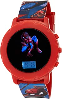 Marvel Spiderman Boys Digital Led display with Character Wristwatch - MV15545