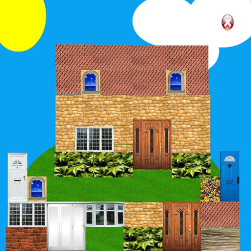 Kid's Build A House - Choose Bricks, Windows, Doors, Landscape