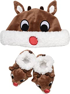 Baby Infant 2-Piece Hat and Booties Set, brown, 0-6M