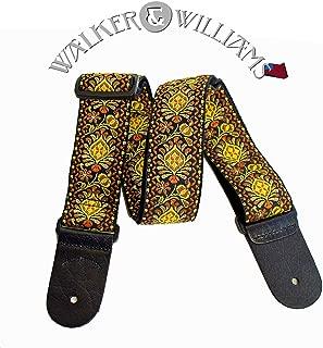 Walker & Williams H-03 Mandala Sun Woven 60's Style Hootenany Hippie Guitar Strap