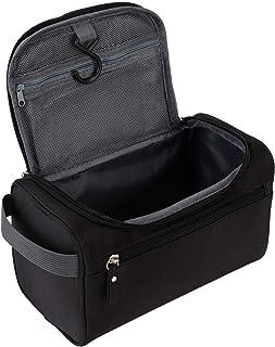 Men's Toiletry Waterproof Hanging Bag Nylon Travel Organizer Cosmetic Bag Necessaries Case Wash Toiletry Bag(Black)