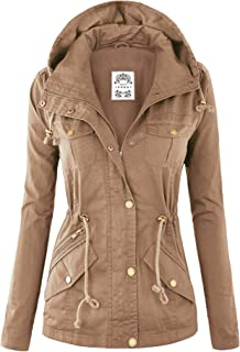 Lock and Love LL Womens Pop Color Parka Jacket