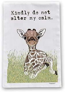 Calm Giraffe Flour Sack Cotton Dish Towel by Pithitude