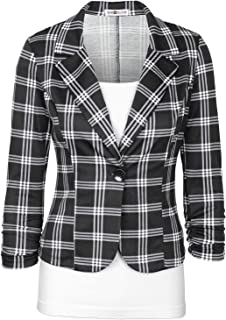 black plaid jacket womens