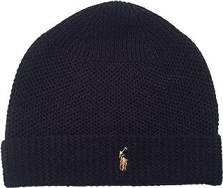 Polo Ralph Lauren Men`s Merino Wool Watch Cap (Navy(PP0017-433)/White, One Size)