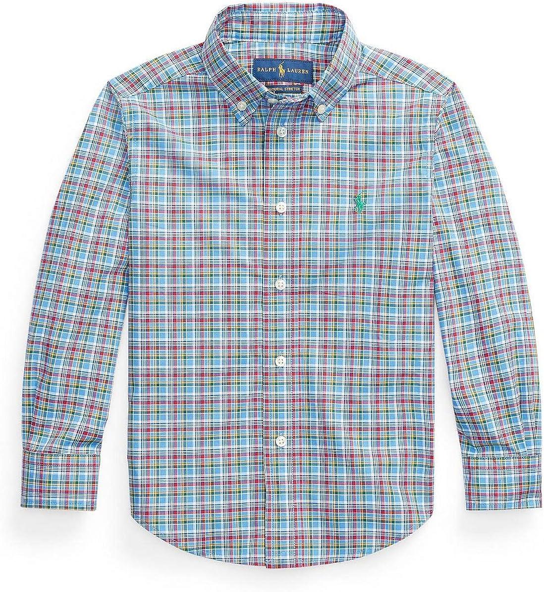 Ralph Lauren Polo Boys Long Sleeve Plaid Poplin Shirt
