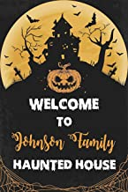 Haunted House Welcome Halloween Sign Customized Halloween Party Poster Welcoming Banner Fright Night Parties Theme, Size 36x24, 18x24