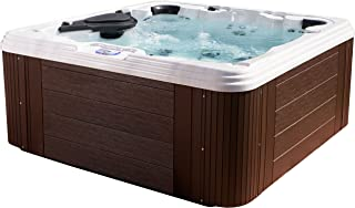 Essential Hot Tubs 60 Jets Civility Sterling Silver Shell, Mahogany