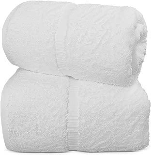 TURKUOISE TURKISH TOWEL % 100 Turkish Cotton Luxury and Super Soft Bath Sheets, 35x70 Inches (White)