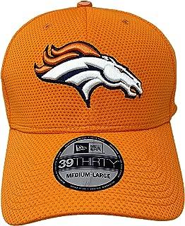 New Era Denver Broncos 2016 NFL On Field Sideline Collection 39Thirty Fitted Hat Low Profile Orange Curve Brim Cap (Medium/Large, Orange)