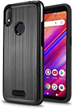 "New Frontier Ultra Hybrid Designed for BLU VIVO X5-5.7"" 2019 Case, Tough Hybrid,Armor,Shockproof,Dual Layer,Drop Protection (Black)"