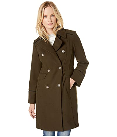 Vince Camuto Double Breasted Wool Coat V29768 (Loden) Women