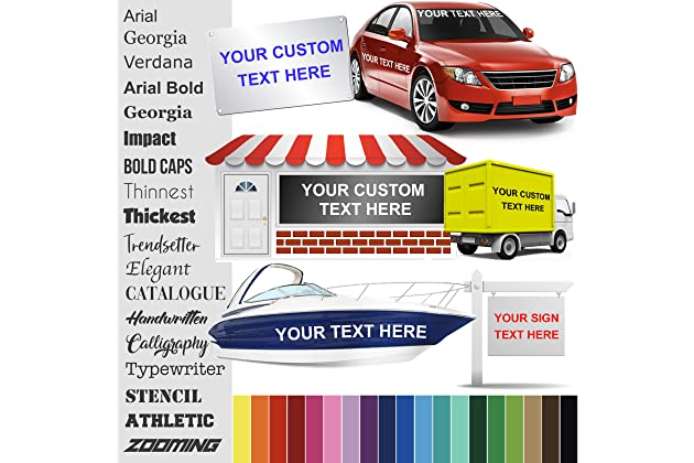 Best custom name stickers for cars | Amazon com