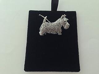 Q2679 - Pendentif Plaqu/é Or Scottish Terrier dor/é - 22x17 mm Les Tr/ésors De Lily