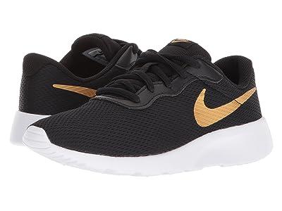 Nike Kids Tanjun (Little Kid) (Black/Metallic Gold/White) Boys Shoes