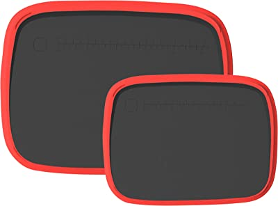 Plastic Cutting Board- Set of 2- Extra Large and Small Chopping Board- Thick, Juice Grooves, Dishwasher Safe, BPA-Free- Silicone Rim Non Slip Design, Anti-Slip Bumps, Precision Measuring Line