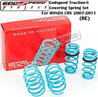 Godspeed (LS-TS-HA-0012) Traction-S Lowering Spring Set For Honda CRV 2007-2011 gsp set kit