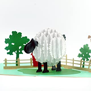 CutePopup Little LAMB ON THE FARM 3D POPUP GREETING CARD for KIDS Happy birthday card for sheep lover Handmade greeting card Birthdays, Anniversaries, GIFT for Family, Friendship or Animal Lover