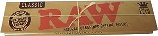 5冊セット RAW classic raw natural unrefined rolling papers KINGSIZE SLIM ロウ 110mm [並行輸入品]