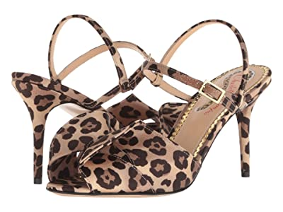 Charlotte Olympia Patric Sandal (Leopard Crepe Satin) High Heels