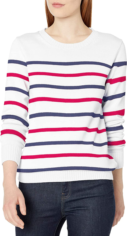 Amazon Essentials Women's 100% Cotton Crewneck Sweater