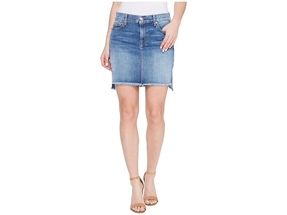 7 For All Mankind Pencil Skirt w/ Step Hem in Vintage Air Classic (Vintage Air Classic) Women