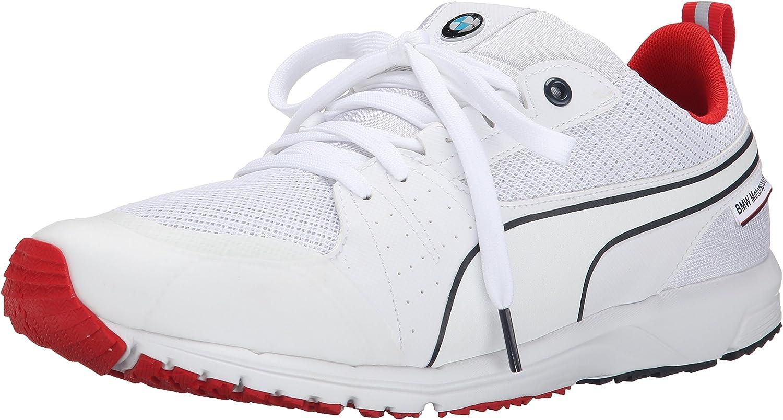 PUMA Men's BMW MS Pitlane Nightcat Lace-Up Fashion Sneaker White
