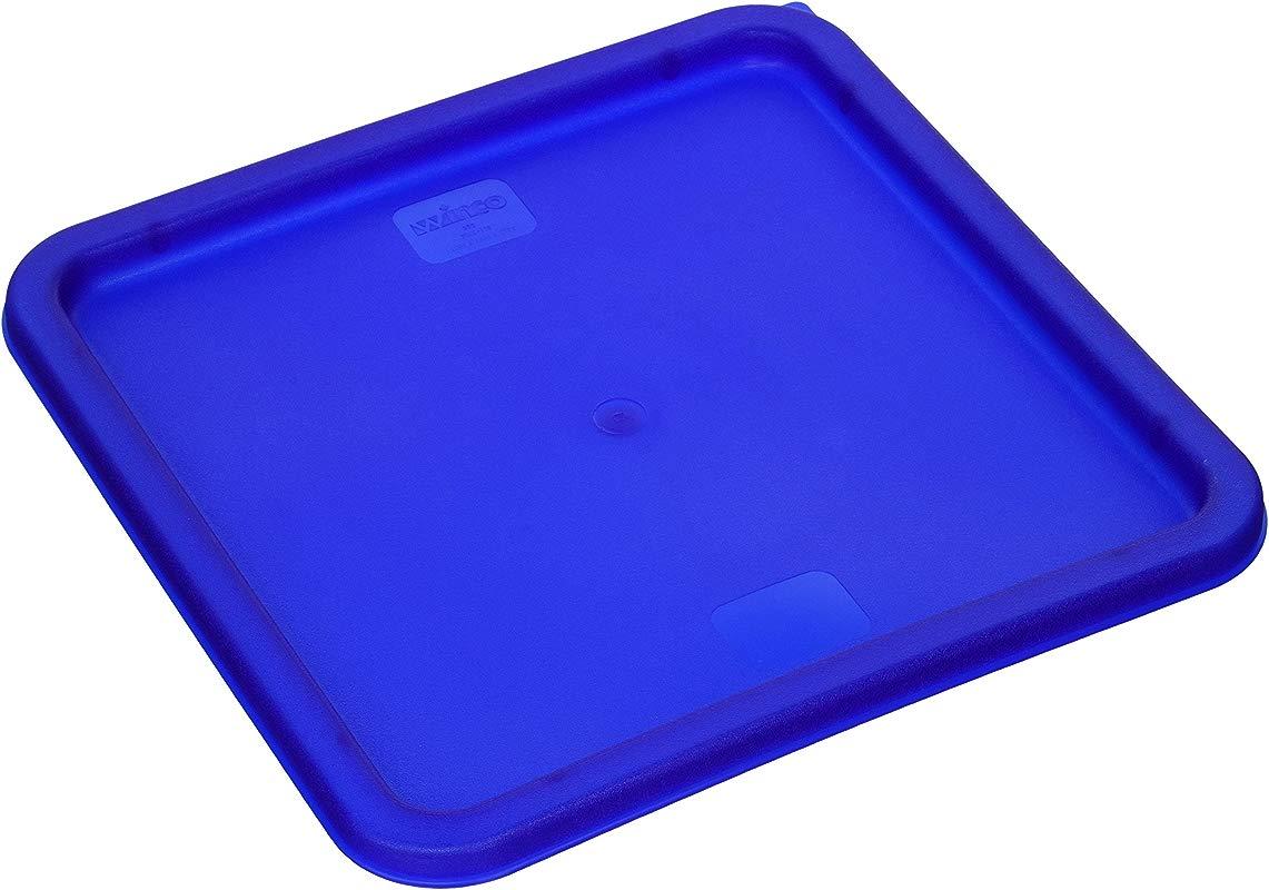 Winco PE Square Cover Blue Fits 12 18 22quart
