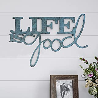Lavish Home Metal Cutout-Life is Good Wall Sign-3D Word Art Home Accent Decor-Perfect for..