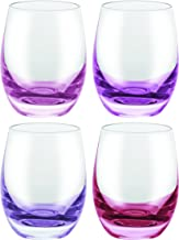 David Shaw BC251-060RP Bohemia Confetti Shot Glass 4 Asst'd Red|Purple 60 ml   2.1 Oz Pack of 4 Bohemia Confetti Shot Glass 4 Asst'd,Red/Purple,60ml/2.1 Oz