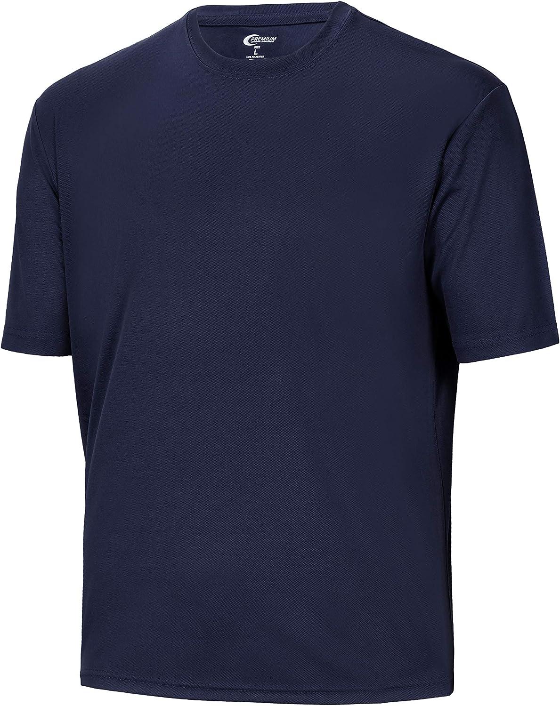 Mens Max 80% OFF Moisture Wicking Athletic T Long Beach Mall Shirts - Sleeve Short Tees Big