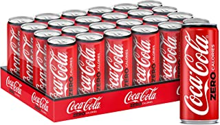 Coca-Cola Zero Carbonated Soft Drink, Can -330ML (Pack of 24)