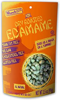 MunchRite Dry Roasted Edamame, 3.5 Ounce (Pack of 12)
