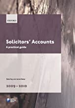 Solicitors' Accounts 2009-2010: A Practical Guide (Blackstone Legal Practice Course Guide)