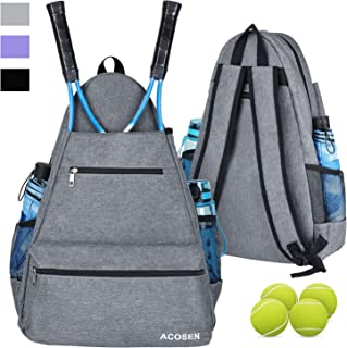 ACOSEN Tennis Bag Tennis Backpack - Large Tennis Bags for Women and Men to Hold Tennis Racket,Pickleball Paddles, Badminto...
