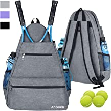 ACOSEN Tennis Bag Tennis Backpack – Large Tennis Bags for Women and Men to Hold..