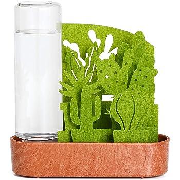 積水樹脂 置物 グリーン 幅15cm 自然気化式加湿器 うるおい 小さな庭 サボテン寄せ植え ULG-SB-GR