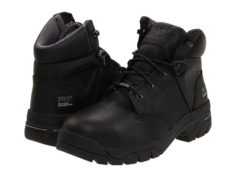 Timberland PRO Helix 6 Waterproof Composite Toe (Black) Men