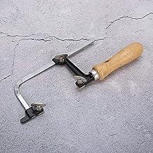 Arco de sierra portátil, herramienta de procesamiento de fabricación de manualidades, 1 pieza, arco de sierra de joyería portátil de plástico cortado, madera para varios tipos(fixed)